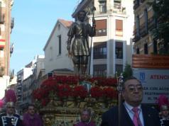 San Isisdro (from church) on parade