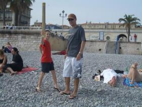 The family on the killer pebble beach