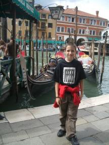Waiting by Grand Canal on arrival
