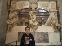 Tom in front of Gallileo's tomb
