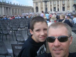 Boys doing the Vatican