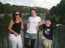 The Tevere; same river as through Florence