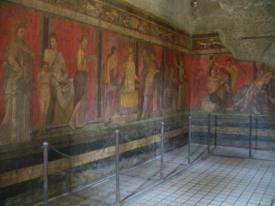 Brilliant frescoes intact