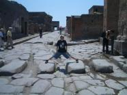A pedestrian crossing..Pompei style