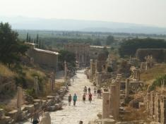 Main road in Ancient Ephesus