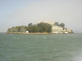 Ferry approaching Alcatraz