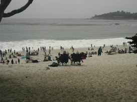 Carmel beach in summer...bring polar fleece!