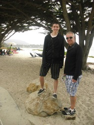 Tom and Mark at Carmel beach