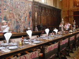 Hearst Castle dining room:paper napkins!