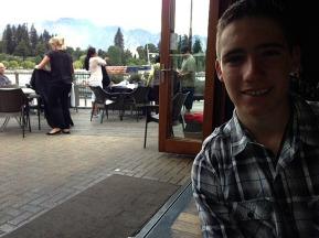 Tom at dinner 'Pier 19'
