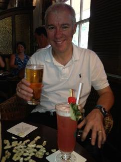Beer at the Long Bar + Singapore Sling!
