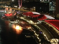 View of Laser/Light & Water show from Level 33.