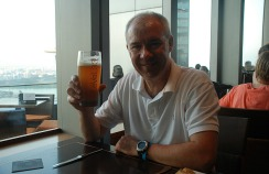 Mark happy with his pale ale.