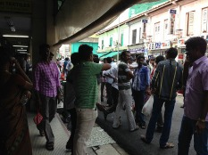 Crowded lanes of Little India.