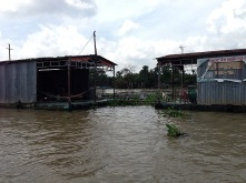 Catfish farm on Mekong River