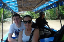 Mary and Tom on Mekong canal.