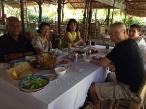 Our Mekong group at lunch.