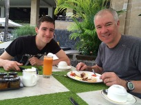 The boys at breakfast