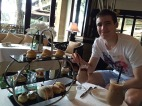 Tom's first High Tea..in Bali no less!