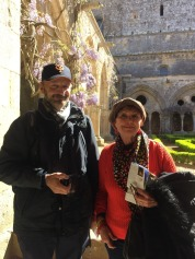 Gordon and Jude at the Cloisters.
