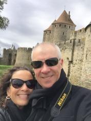 Part of the walled Cite de Carcassonne.