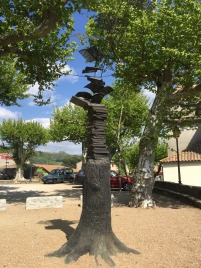 Monument to Village of Books: Montolieu.