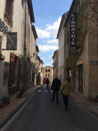 The village lanes in Montolieu.