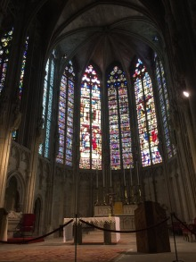 Beautiful windows in St Nazaire.