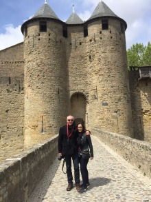 Mark & Mary at entry to Carcassonne Castle.