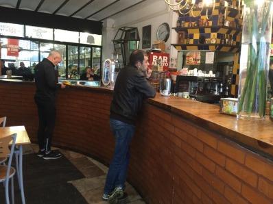 A morning coffee at Ribeira Markets.
