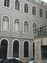 Moorish wall tiles in Alfama district.