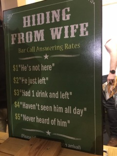 A funny sign at the Beer Festival.