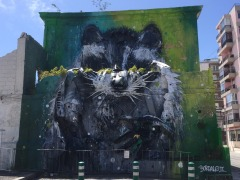Street art at Belem.