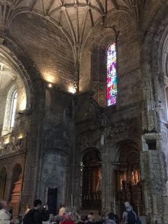 Inside St Jeronimos.