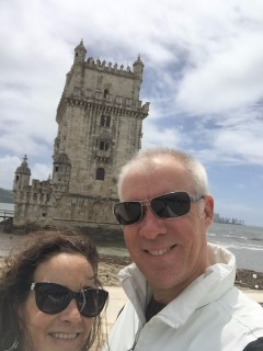 Us at the Tower of Belem.