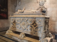 Vasco da Gama's tomb inside St Jeronimos
