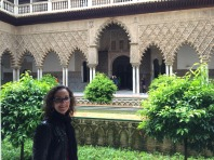 Internal courtyard in Alcazar.