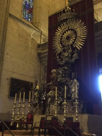Massive Silver Altar piece in Seville Cathedral.