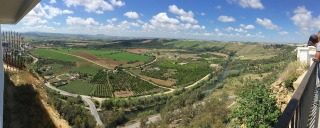 A panorama from viewing deck at Arcos.