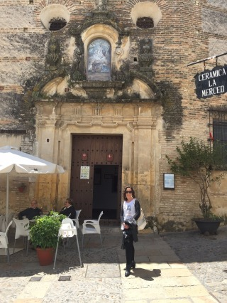 Mary outside the Convent of silent nuns.