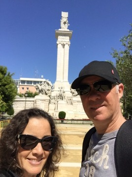 One of the many monuments in Cadiz.