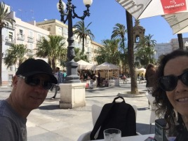 Some people watching in Cadiz.