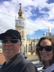 A final drink with view over Seville Cathedral.