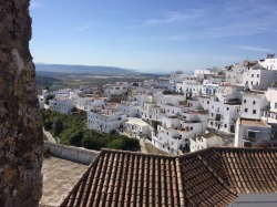 View looking down from Vejer.