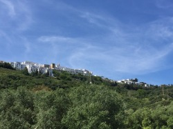 View looking up to Vejer.