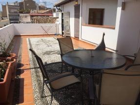A huge terrace.
