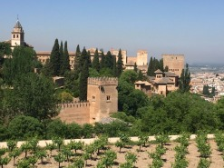 Looking out over Alcazaba, fortress of Alhambra.