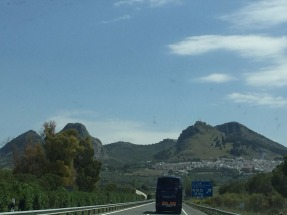 Mountains & White Towns on way to Granada.