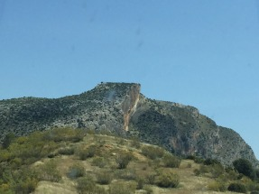 Spectacular geology on way to Granada.