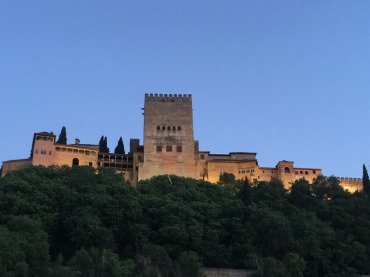 Beautiful Alhambra on the way home.
